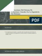 Aplicaciones Del Sistema de Ecuaciones Lineales en La