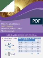 Métodos Quantitativos - Tele Aula 02 - Exercícios