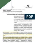 CLASE TEÓRICO-PRÁCTICA Y TPn°6- LA SECUENCIA DIDÁCTICA