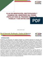 PLAN DE RENOVACIÓN, RECTIFICACIÓN Y CAMBIOS DEL MINISTERIO Y SUS ENTES ADSCRITOS.pdf