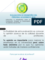 EVALUACIÓN DE DESEMPEÑO DEL PERSONAL ACADEMICO 2018