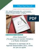 Agenda Responsable 2011 - La herramienta imprescindible para planificar el tiempo, ayudando a combatir el Cambio Climático - 3ª Edición