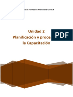 Unidad 2 - Planificacion y proceso de la capacitacion