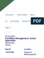 Facilities Management, Asset Specialist _ Walmart