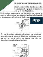MEZCLADORES DE CUBETAS INTERCAMBIABLES