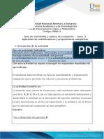 Guia de actividades y Rúbrica de evaluación - Unidad 2 -Tarea 2 - Aplicación de cuantificadores y proposiciones categóricas