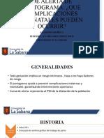 ALTERACIONES PARTOGRAMA