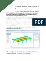 4 Grandes ventajas del BIM para ingenieros estructurales