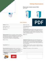 FICHA TECNICA Dispensador de jabón líquido 450ml