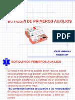 BOTIQUIN DE PRINEROS AUXILIOS.ppt