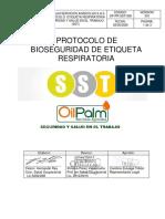 OP-PR-SST-008 PROTOCOLO DE BIOSEGURIDAD PARA LA ETIQUETA RESPIRATORIA