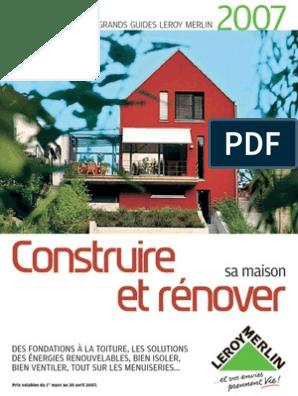 Guide Renovation 2007 Isolation Thermique Du Bâtiment