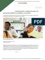 A partir de hoy sancionarán a empresas que no presenten libros contables a la Sunat _ Economía _ Gestión