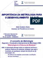 IMPORTÂNCIA DA METROLOGIA