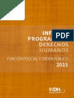 Informe Función Policial y Orden Público
