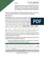 Manual Exportar archivos de Excel a CSV