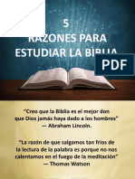 5 razones para estudiar la biblia