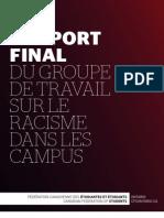 FCÉÉ-Ontario - Rapport Final du groupe de travail sur le racisme dans les campus - mars 2010
