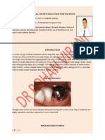 Dental Crown Selection for Patients Protected