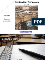 Lecture 4 Basement construction