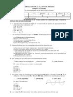 Examen Final III Periodo Grado 7.