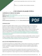 Descripción general de la biopsia de ganglio linfático centinela en cáncer de mama - UpToDate.pdf