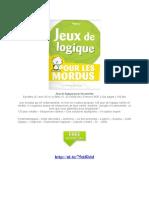 eBook Jeux de Logique Pour Les Mordus