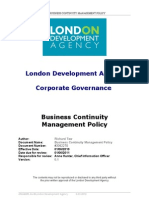 Business Continuity Management Policy 7299