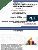 Actividad No. 8 Análisis de experiencias de Voluntariado Universitario en América LatinaTarea equipo 2 beatriz alba y nathaly