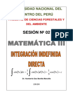 SESIÓN 02 INTEGRAL INDEFINIDA