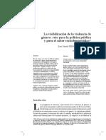 La visibilizacion de la violencia de genero reto para la política pública y para el saber sociodemográfico