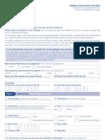 Application Form VAF1A - General Visitor Form