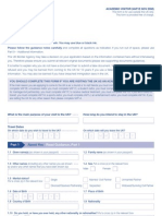 Application Form VAF1E - Academic Visitor Form