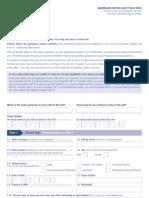 Application Form VAF1F - Marriage Visitor Form