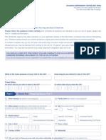 Application Form VAF3B - Student Dependent Form