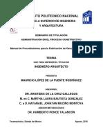 Manual de procedimientos para la farbicación 9878