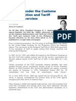 Changes under the Customs Modernization and Tariff Act