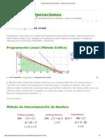 Programación Lineal Archivos - Gestión de Operaciones