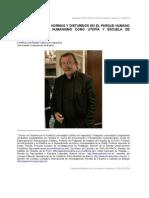 DR. ADOLFO VASQUEZ ROCCA_ PETER SLOTERDIJK; NORMAS Y DISTURBIOS EN EL PARQUE HUMANO O LA CRISIS DEL HUMANISMO COMO UTOPÍA Y ESCUELA DE DOMESTICACIÓN