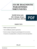 TECHNIQUES DE DIAGNOSTIC DES PARASITOSES OPPORTUNITES