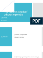 The major methods of advertising media