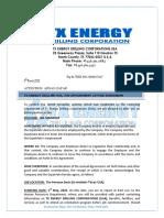 TX ENERGY JOB OFFER LETTER