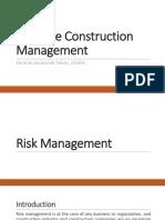 Lec # 09 Construction Management