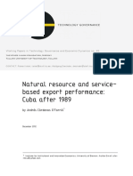 Cuba after 1989. Natural resource and service-based export performance.pdf