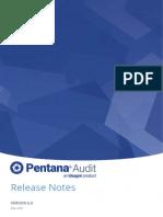Pentana Audit v6.0 Release Notes