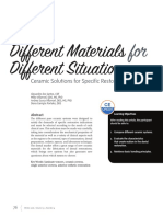 Different Materials for Different Situations:Ceramic Solutions for Specific Restorative Indications