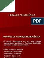 HERANÇA MONOGÊNICA