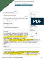 Influencia de Los Sistemas de Información en Los Resultados Organizacionales