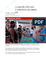 Philippines reports 539 new COVID nearly 26k cases
