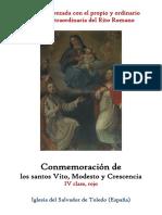 15 de Junio. San Vito, Modesto y Crescencia, mártires. Propio y Ordinario de la santa misa